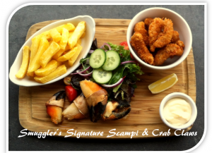 Smugglers Signature Scampi and Crab Claws