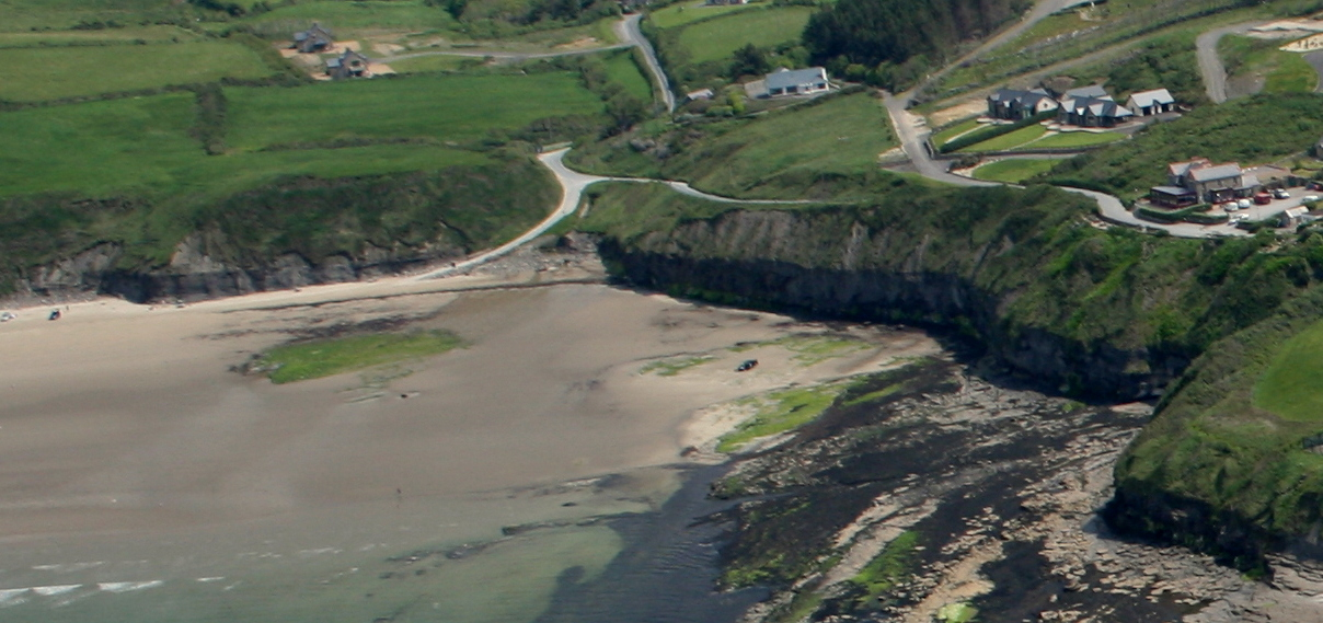 Aerial View of Smugglers Creek from Rossnowlagh Beach